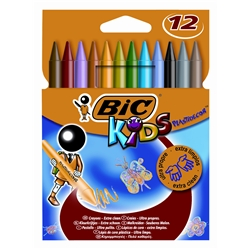 BiC KIDS Plastidecor Colouring Crayons [Pack 12]